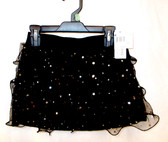 Black Stardot Ruffled Skort Child Costume L 10-12 NWT