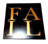 "Fall Gold Black Tile Halloween Fall Decor 8"" New"
