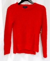 Rampage Juniors' Red Metallic Open-Knit Pullover Sweater XS NWT