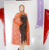 Seasons Red Mystic Wed Cape Costume Adult OSFM NIP