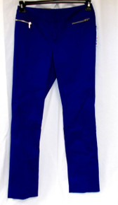 Inc International Concepts Zip-Pocket Straight-Leg Pants Goddess Blue 6 NWT