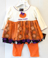 Cutest Pumpkin Child Toddler Costume Dress Pants 0-3M NIP
