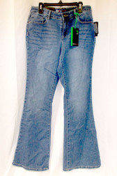 Style & Co. Womens Low Rise Rayon Denim Flare Jeans Blue 12 Short NWT