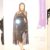 Seasons Black Mystic Wed Cape Costume Adult OSFM NIP