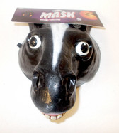 Caretas Rev Black Horse Pony Donkey Costume Mask Adult OSFM NIP