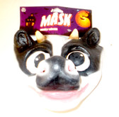 Caretas Rev Black White Cow Costume Mask Adult OSFM NIP