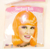 Fun World Orange Sherbert Bob Wig Costume Adult OSFM NIP
