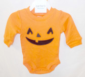 Carter's Baby Orange Jack o lantern Halloween One Piece Outfit NB 3M 6M 9M NWT