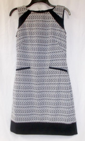 American Living Black White Print Sleeveless Dress 6 NWT