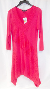 Cable & Gauge Knitworks Raspberry Pink Tunic T-shirt Dress S NWT
