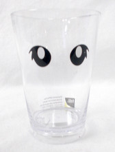 Felli Designs White Black Clear Googly Eyed Halloween Drinking Cup 4in NIP