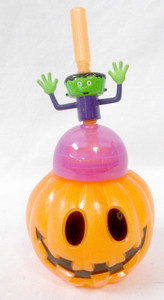 Cool Gear Black Orange Green Pumpkin People Drinking Bottle Adult 9FL oz NIP