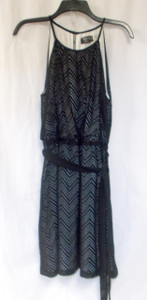 Guess Chevron Knit Halter Dress Black Women's 8 NWT
