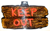 Amscan Black Brown Red Keep Out Sign 8 3/4in NIP