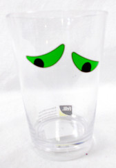 Felli Designs Green Black Clear Worry Eyed Halloween Drinking Cup 4in NIP