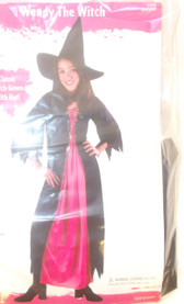 Fun World Pink Black Wendy The Witch Costume Dress Child S M L NIP