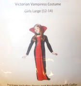Fun World Red Black Victorian Vampiress Costume Dress Child S M L NIP