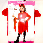 Fun World Red Darling Devil Costume Dress Child S M L NIP