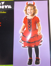 Frilly Lil' Devil Child Costume Dress 4-6 Years NWT