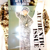 Fun World Acu Camo Soldier Costume Jumpsuit Child S M L NIP