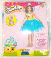Disguise Shopkins Blue Yellow Pink Cupcake Queen Costume Dress Child S 4-6 NIP