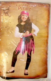 Fun World Black Pink White Caribbean Pirate Costume Skirt S M L NIP