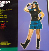 Giddy Up Cowgirl Teen Dress Costume Hat Medium NIP