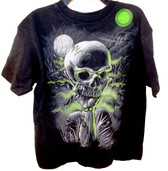 Halloween Glow In The Dark Skull Shirt Boys S M L XL NWT