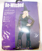 Pony Express Black Be-Witched Costume Outfit S 6-8 NIP
