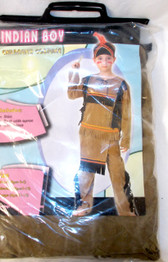 Brown Black Indian Boy Costume Outfit S M NIP