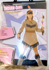 Brown Black Red Orange Indian Girl Costume Dress S NIP