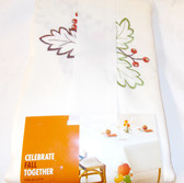 "Kohls Celebrate Fall Tablecloth Fall Pumpkin Leaf Berry Orange Green Oblong 60 x 120"" NWT"