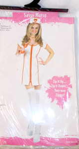 Fun World White Red Sassy Nurse Costume Dress ML 10-14 NIP