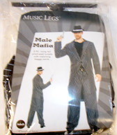 Music Legs Black White Male Mafia Adult Costume Outfit M XL NIP