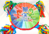 "PJ Masks Owlette Catboy Gekko Birthday Party Pinata Custom 15"" NEW"