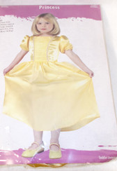 Yellow Belle Beauty Princess Child Costume Dress M 4-6 NIP