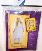 Disguise One Upon My Story Time Storytime Angel Dress Slip Wings Halo Child Costume 4-6X NIP