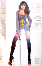 Be Wicked Black Gray Red Blue Yellow Sexy Templar Costume SM ML NIP