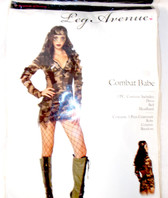 Leg Avenue Green Brown Black Combat Babe Costume Dress SM ML NIP