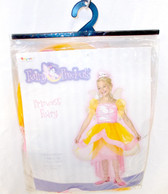 Disguise Princess Fairy Child Costume Dress Wings Tiara Headband Pink Orange Child 7-8 NIP