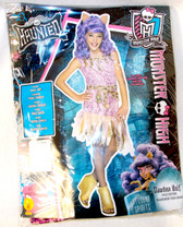 Rubies Haunted Monster High Pink Gold Black Clawdeen Wolf Costume Dress L 12-14 NIP