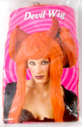Fun World Red Devil Wig Costume OSFM NIP
