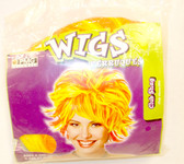 PMG Halloween Orange Yellow Club Shag Costume Wig OSFM NIP