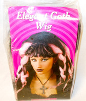 Fun World Pink Black Elegant Goth Costume Wig OSFM NIP