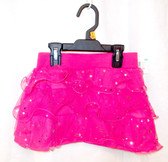 Hot Pink Stardot Ruffled Skort Child Costume Small 6-6X NWT