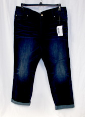INC International Concepts Womens Boyfriend Regular Fit Short Length Jeans Dark Blue Wash 16S NWT