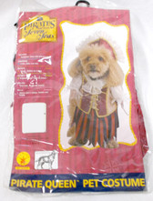 Rubies Pirates Of The Seven Seas Pirate Queen Pet Costume S NIP