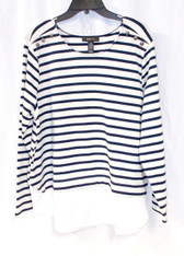 Style & Co Womens Striped Layered Look Top XXL NWT