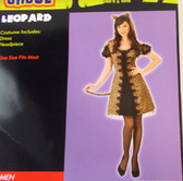 Leopard Cat Adult Costume Dress OSFM NIP