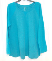 Style & Co Plus Women's Textured Pullover Sweater Long Sleeve Teal 1X  NWT